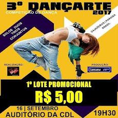 III DANÇAARTE - DIA 16 DE SETEMBRO, ÀS 19H30, NO AUDITÓRIO DA CDL