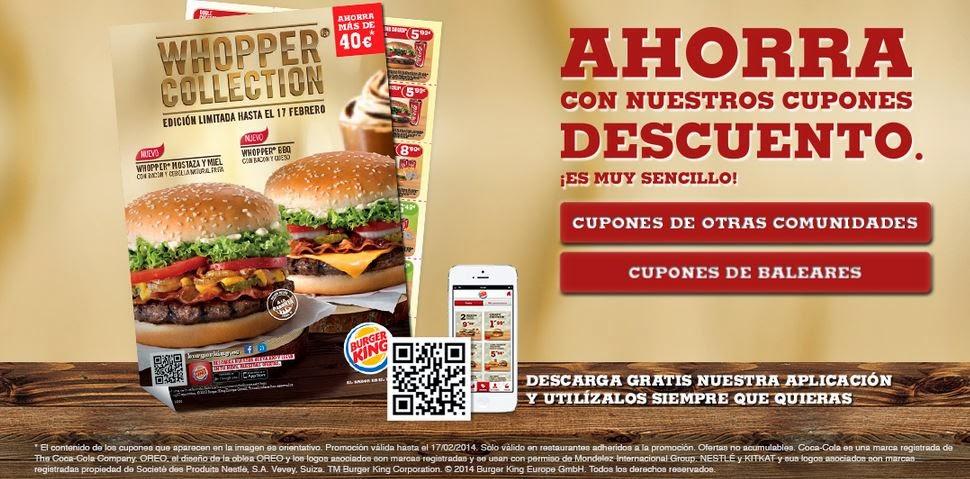Cupones descuentos Burger King