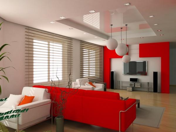 interior decoration with red