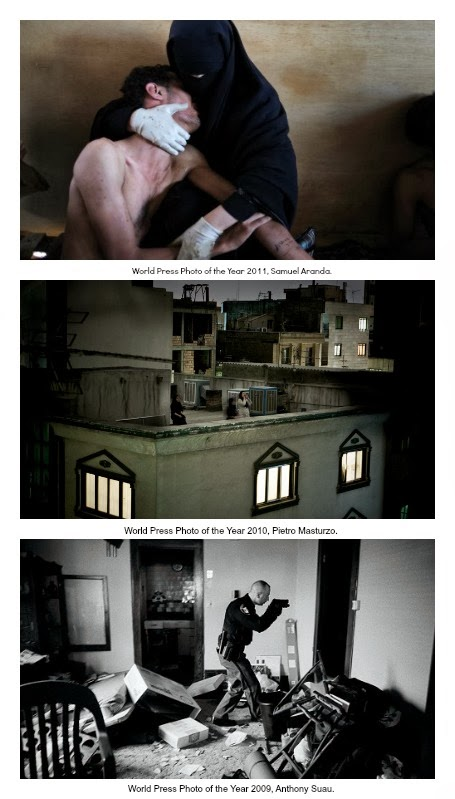 World Press Photo of the Year Samuel Aranda, Pietro Masturzo y Anthony Suau.