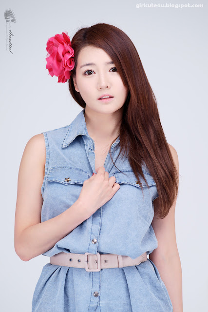 12 Han-Ga-Eun-Denim-Shirt-01-very cute asian girl-girlcute4u.blogspot.com