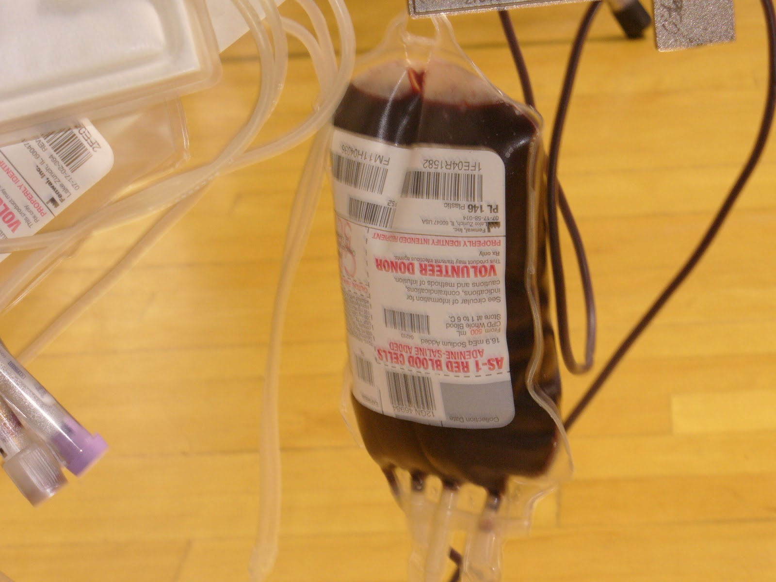Red Cross Blood Donation Bag