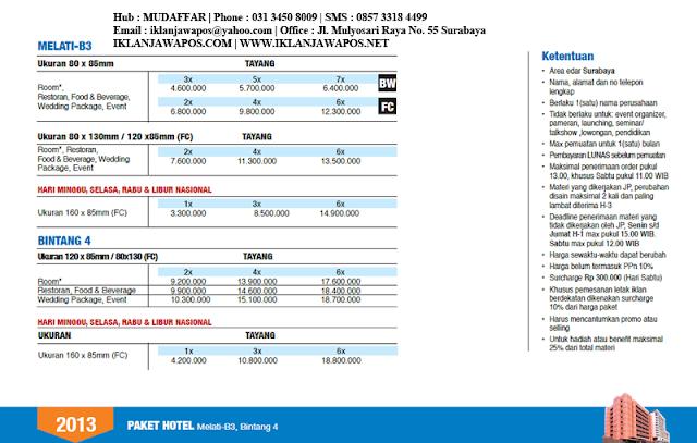 Jawa Pos Iklan Paket Hotel 2013