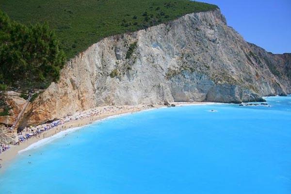 Porto Katsiki beach, Lefkada island in Greece