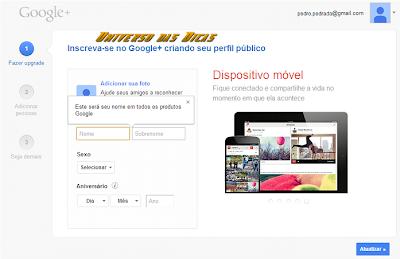 Como criar perfil no Google Plus