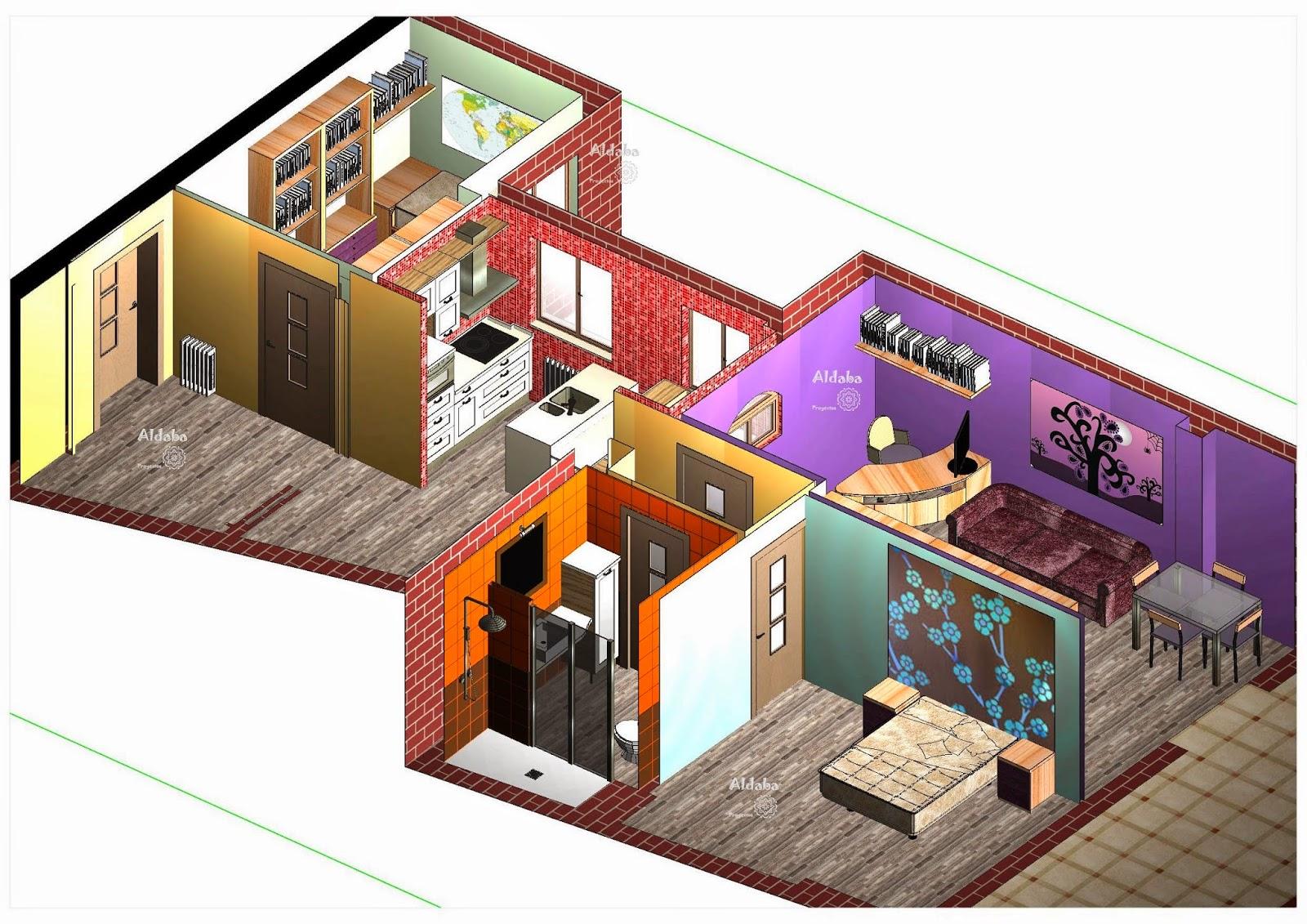 Aldaba proyectos vivienda de 73 m3 proyecto de reforma y equipamiento de cocina y ba o - Tirar tabique ...