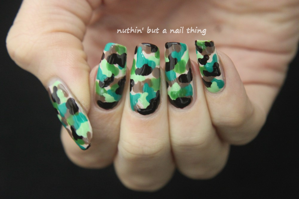 Camouflage nail art ... - Nuthin' But A Nail Thing: Camouflage Nail Art