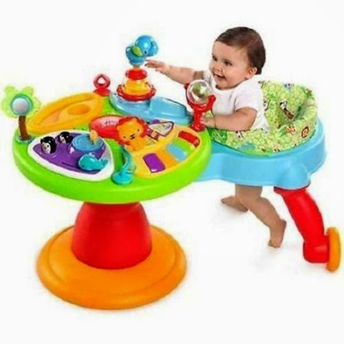 3-in-1 Around We Go Toddler Baby Toy Activity Station Bright Starts Zippity Zoo