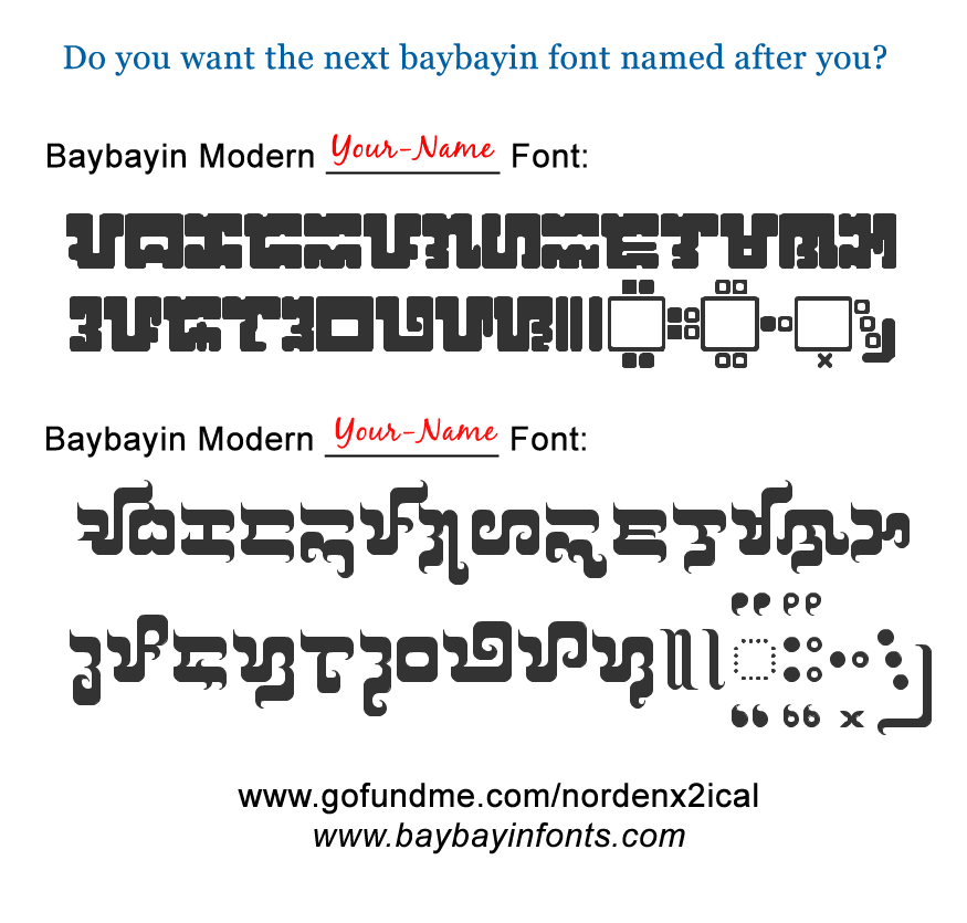 Do you want the next new font named after you?