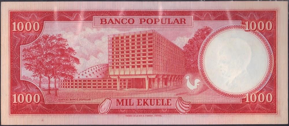 Guinea Equatoriale 1000 Ekuele 1975 P# 8