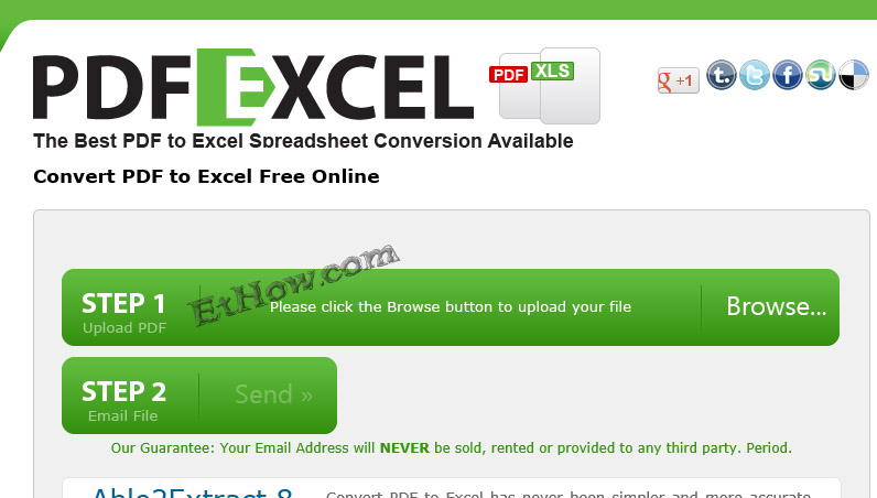 PDF to XLS (excel) converter