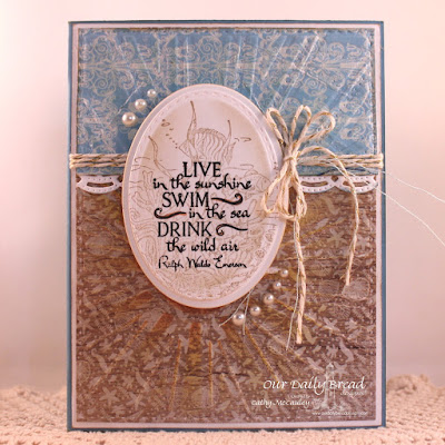 Our Daily Bread Designs Stamp sets: Deep Waters, Under the Sea, Our Daily Bread Designs Custom Dies: Ovals, Stitched Ovals, Sunburst Background, Beautiful Borders, Our Daily Bread Designs Beautiful Boho Paper Collection