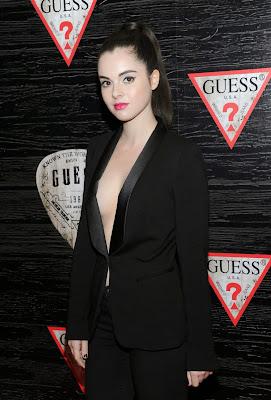 Vanessa Marano flaunt cleavage at GUESS Celebrates New York Fashion Week