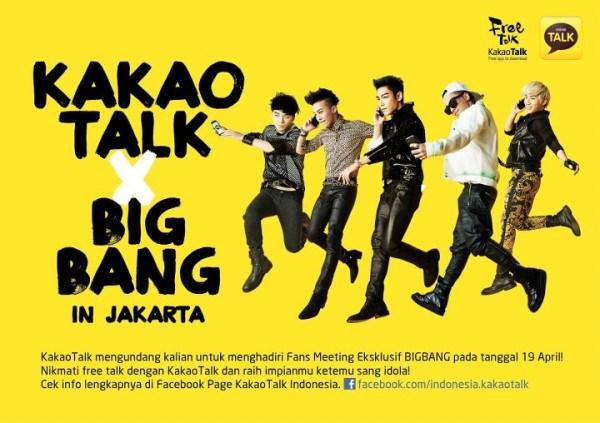 Big Bang Kakao Talk in Jakarta