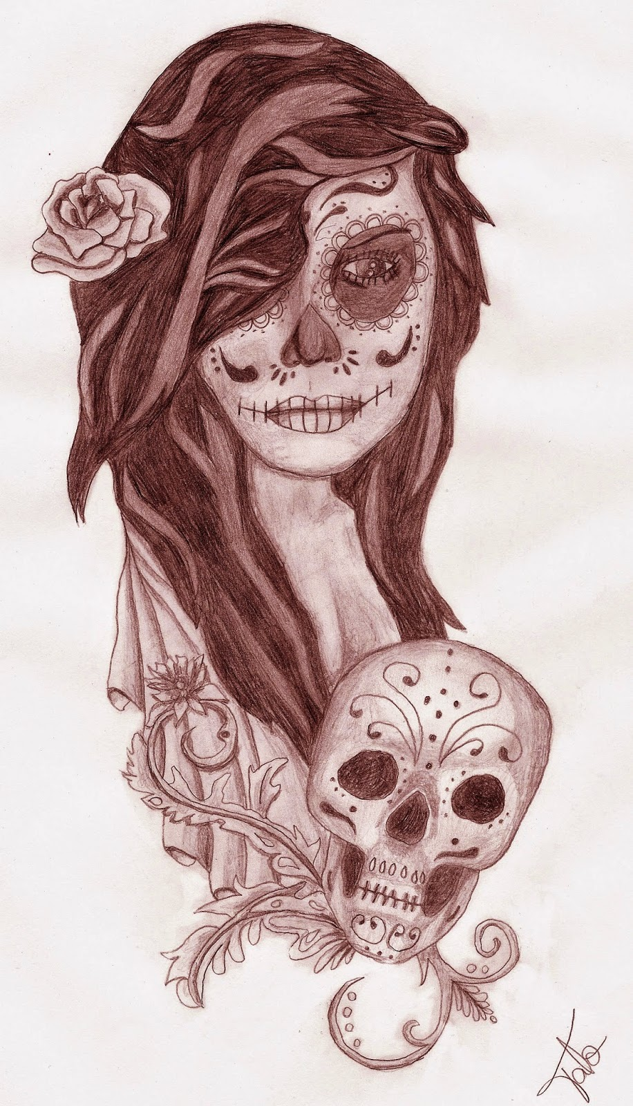 Pretty Catrina Tattoos