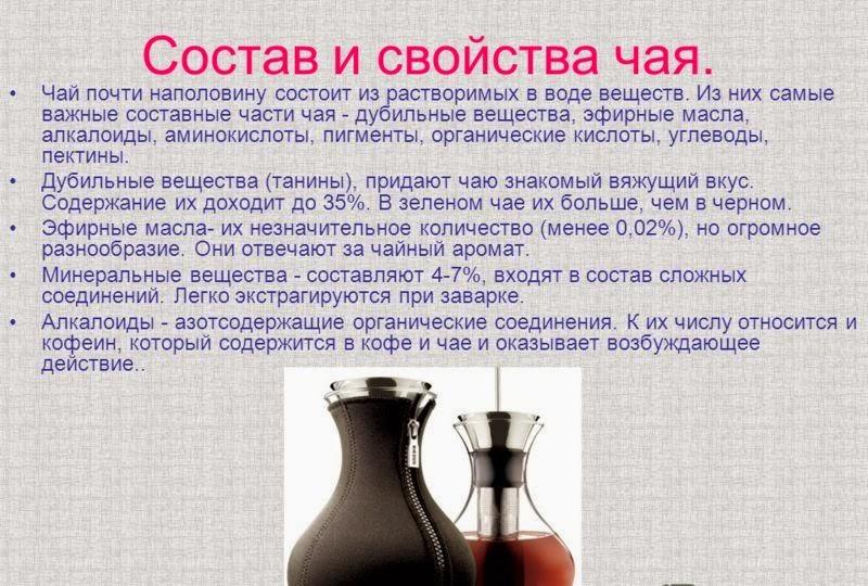 Вяжущее вещество в чае