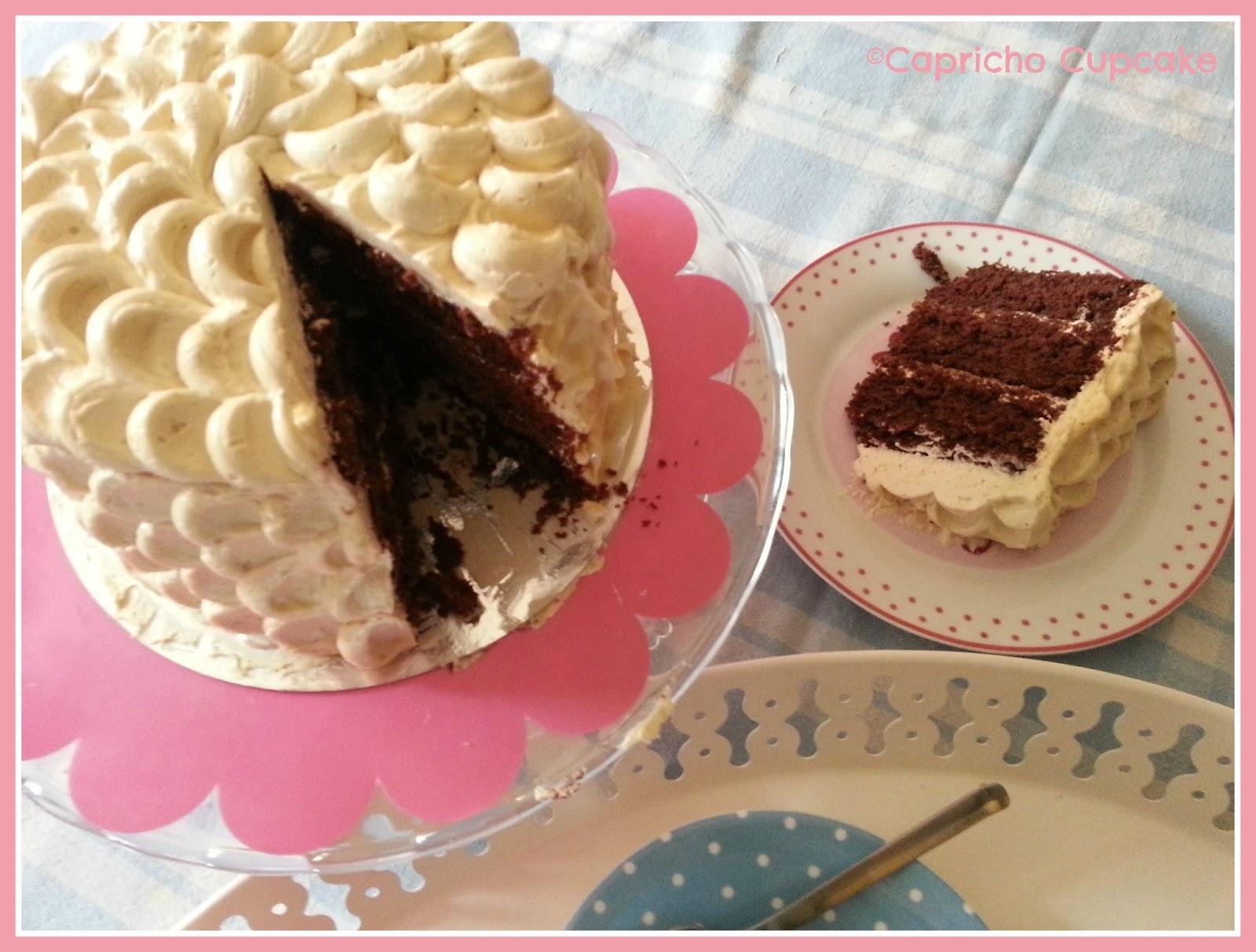layer cake chocolate y avellana capricho cupcake