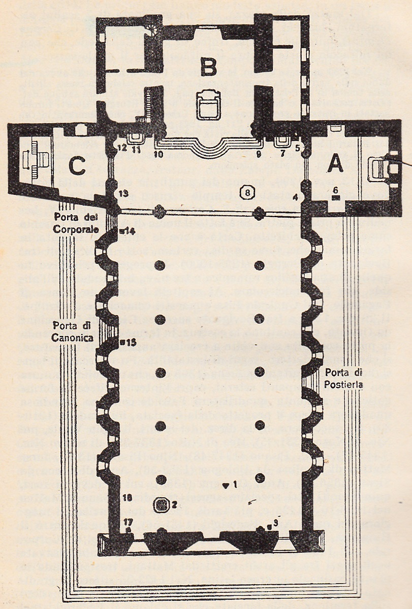 Di qua e di la duomo di orvieto the cathedral of orvieto for Pianta del pavimento con dimensioni