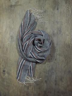ręcznie tkany lniany szal Janis Rozentals