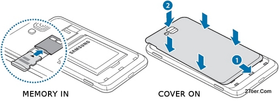 Card into its Slot, Close Cover Casing On - Samsung Ativ S GT I8750