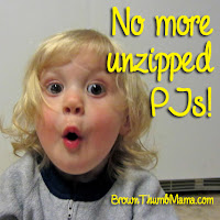 Keep Your Toddler From Unzipping Her Pajamas: BrownThumbMama.com