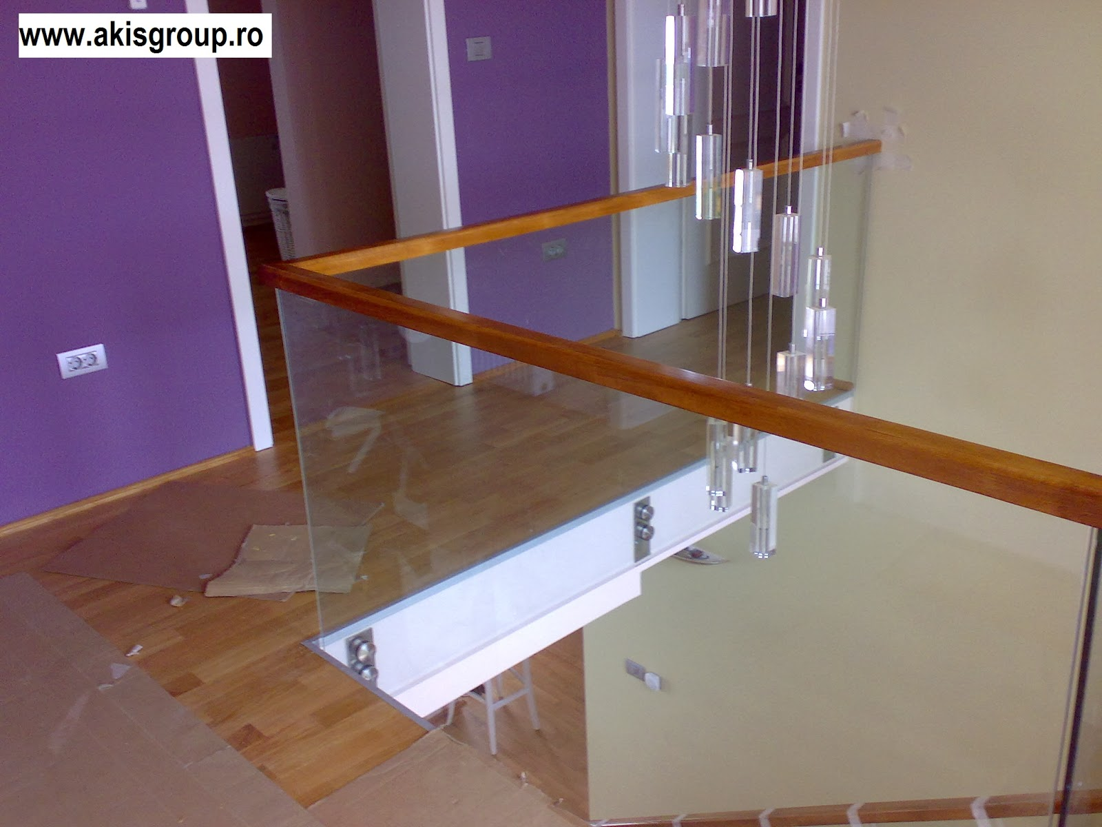 Glasgelander Moderne Gelander