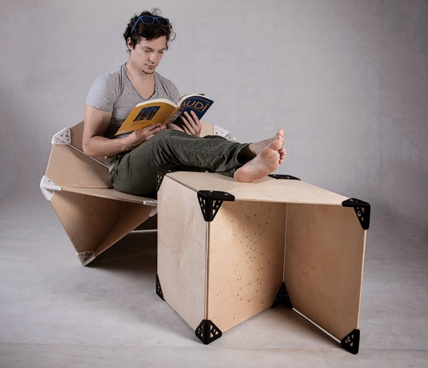 Diy 3d printing link furniture system with 3d printed for Furniture 3d printing