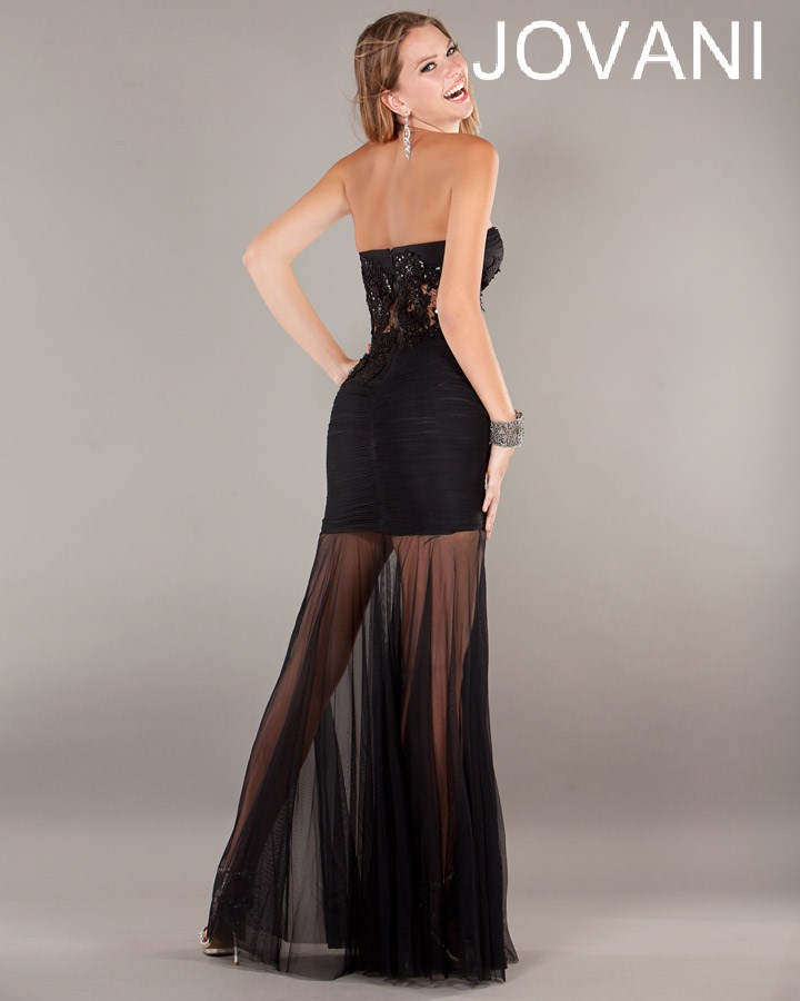 Jovani Prom Dresses 2013 long black lace