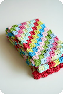 ABC Knitting Patterns - Candy Stripe Scarf .