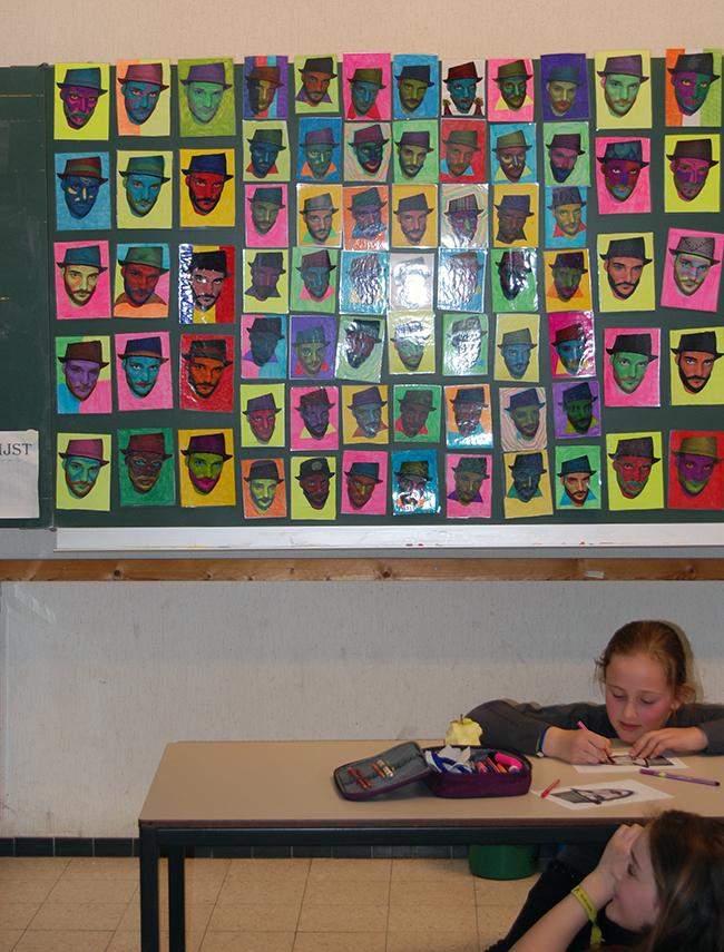 Des élèves étudient l'artiste Ben Heine à l'école - Belgique 2014
