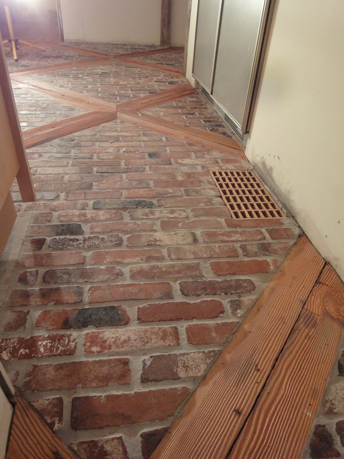 Farmhouse Brick Flooring Tile : Farmhouse kitchen floor