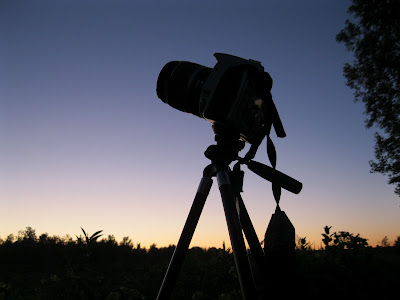 camera at twilight after sunset