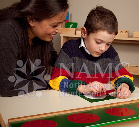 namc montessori ten things to remember when presenting montessori activities boy teacher fraction circles
