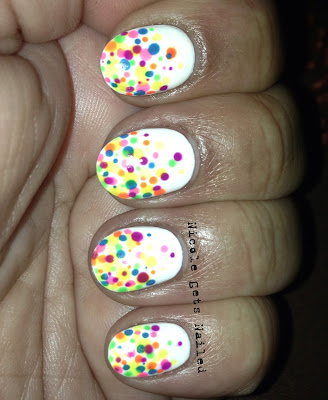 Neon Polka Dots on White