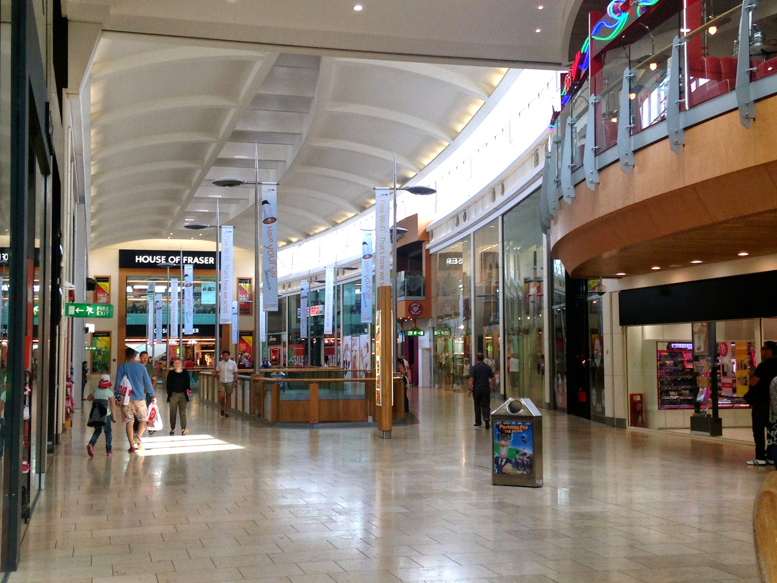 A picture of the inside of Intu Chapelfield Shopping Centre Norwich