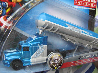 Maisto die cast cars trucks mini haulers oil truck oneway Marvel Universe