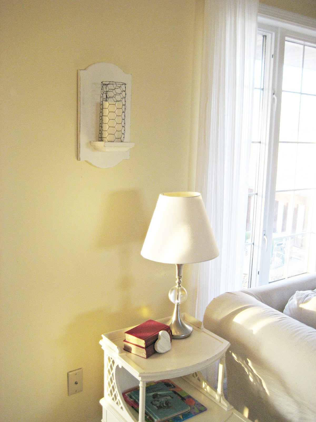 Diy Wall Sconces For Candles : Happy At Home: DIY Candle Sconce