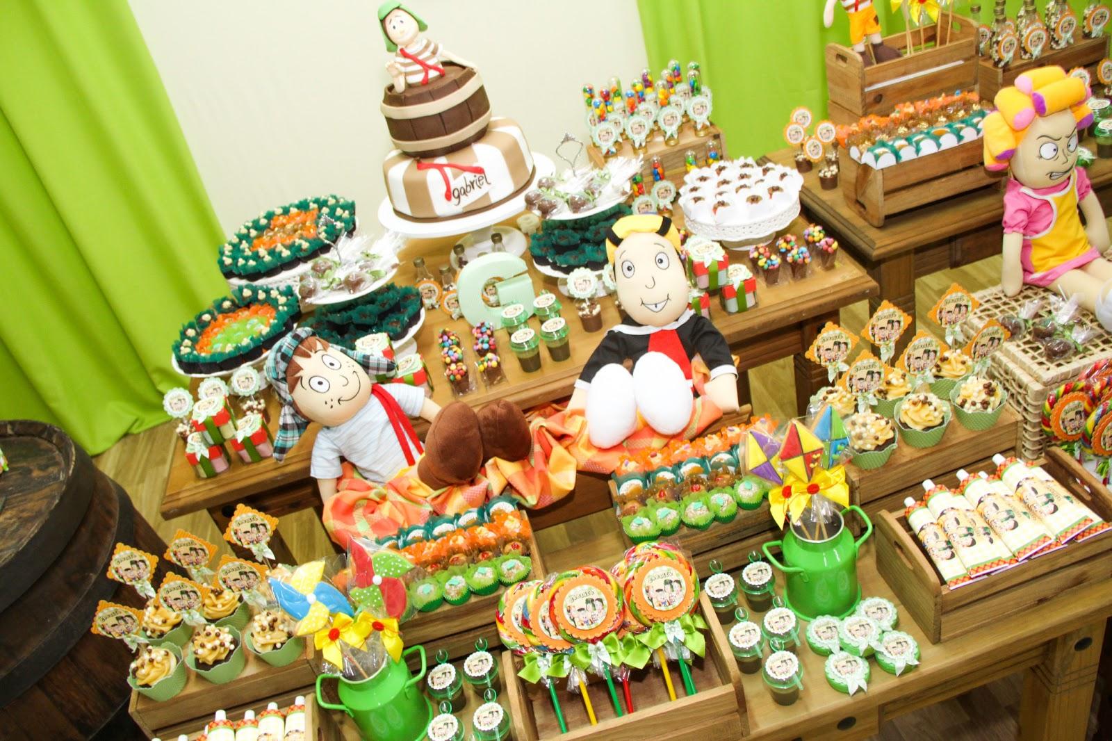 Buffet Oficina das Festas Festa Turma do Chaves  Gabriel 9 anos