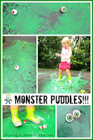Monster puddles rainy day activities for kids