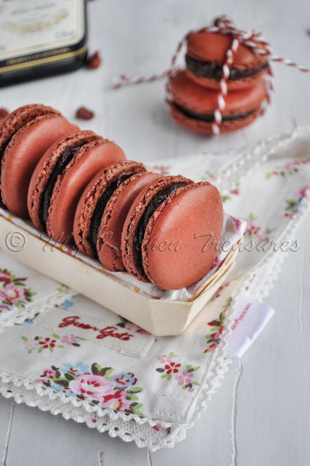 My Kitchen Treasures: Cherry Macaron With Heering Cherry Liqueur