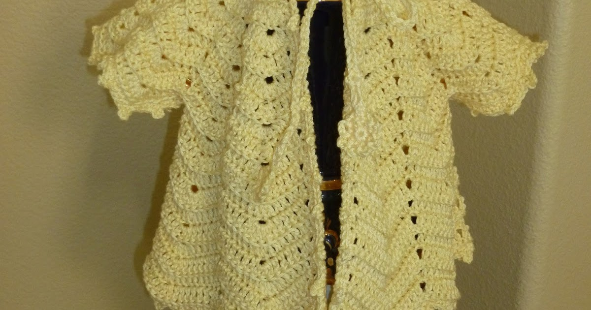 Lilly My Cat: Crochet Ripple Baby Sweater with Vintage Pattern