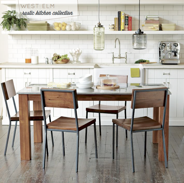 West Elm Rustic Kitchen Table: West Elm: Modern Meets Rustic-Industrial Kitchen