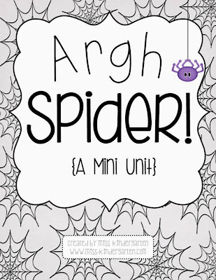 Argh Spider! {a mini unit} - Miss Kindergarten