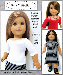 Boatneck Raglan Top and Dress PDF 5.00