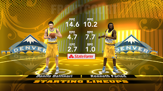 NBA 2K13 Denver Nuggets Yellow Alternate Jersey