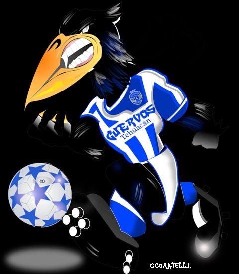 Uniforme y mascota para equipo de fútbol- México: Sporting Cuervos de Tehuacán
