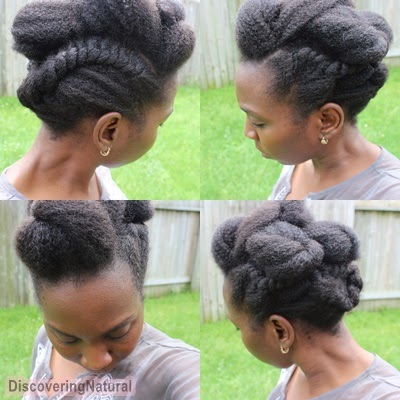 Flat Twist Updo Natural Hair