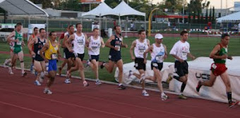 Tim S. and Eric F in the pack of men's 40yr olds at Master's Worlds Champs