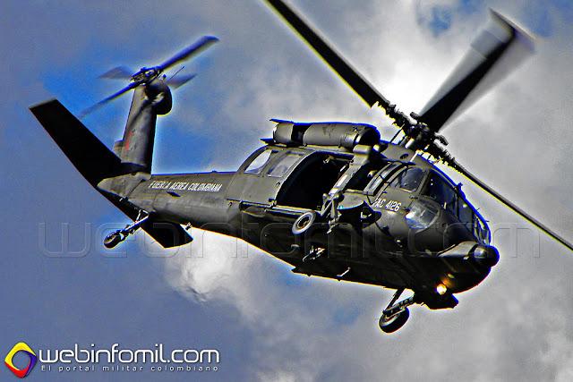 Helicóptero UH-60L Black Hawk de la Fuerza Aérea Colombiana,