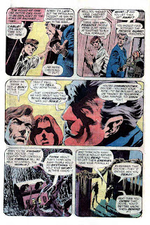 Swamp Thing v1 #1 1970s bronze age dc comic book page art by Bernie Wrightson